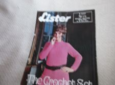 VINTAGE ORIGINAL CROCHET PATTERN LISTER N2227 DOUBLE KNIT TEXTURED JUMPER 34 38""